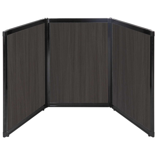 "Folding Tabletop Display 78"" x 36"" Carbon Ash Wood Grain"