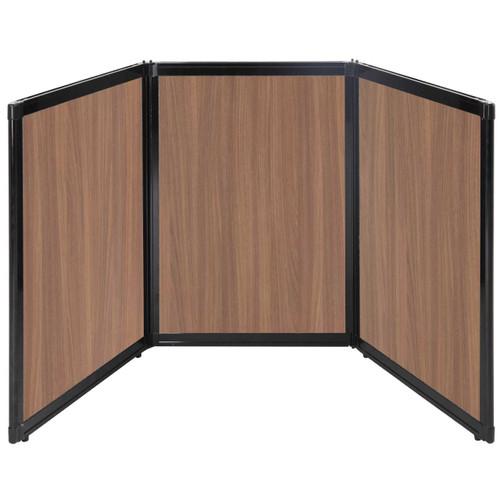 "Folding Tabletop Display 78"" x 36"" River Birch Wood Grain"