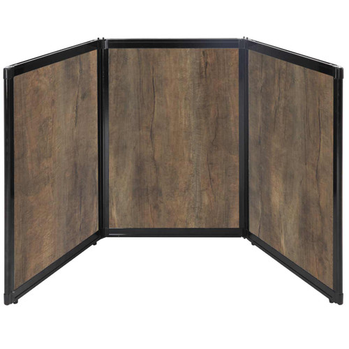 "Folding Tabletop Display 78"" x 36"" Urban Oak Wood Grain"