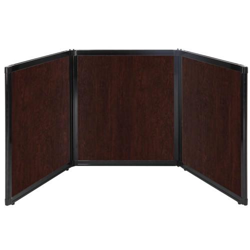 "Folding Tabletop Display 99"" x 36"" Espresso Cherry Wood Grain"