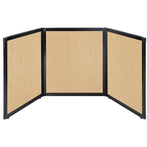 "Folding Tabletop Display 99"" x 36"" Natural Maple Wood Grain"