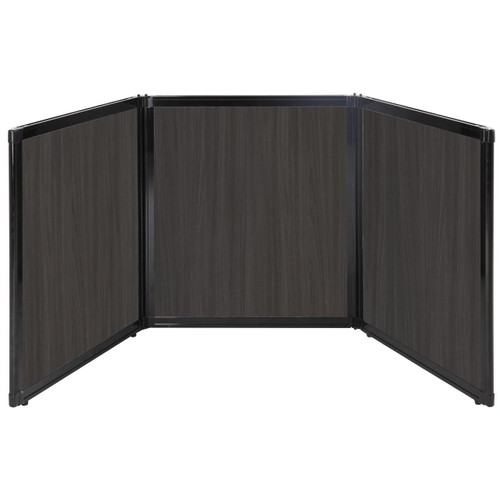 "Folding Tabletop Display 99"" x 36"" Carbon Ash Wood Grain"