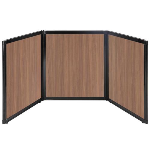 "Folding Tabletop Display 99"" x 36"" River Birch Wood Grain"