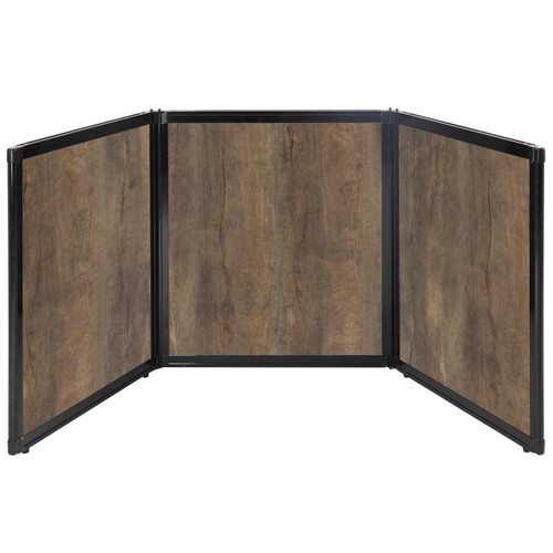 "Folding Tabletop Display 99"" x 36"" Urban Oak Wood Grain"