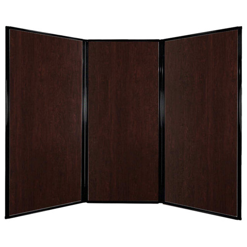 "Privacy Screen 7'6"" x 5'10"" Espresso Cherry Wood Grain"
