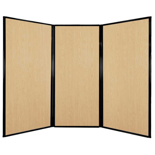 "Privacy Screen 7'6"" x 5'10"" Natural Maple Wood Grain"