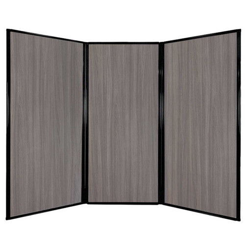 "Privacy Screen 7'6"" x 5'10"" Gray Elm Wood Grain"