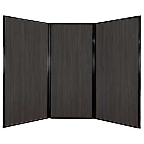 "Privacy Screen 7'6"" x 5'10"" Carbon Ash Wood Grain"