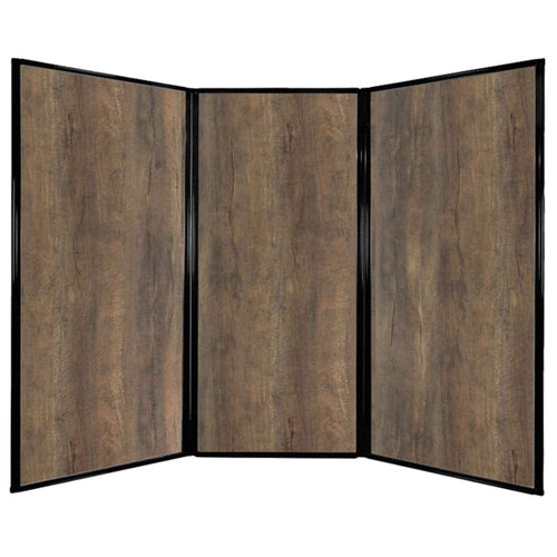 "Privacy Screen 7'6"" x 5'10"" Urban Oak Wood Grain"