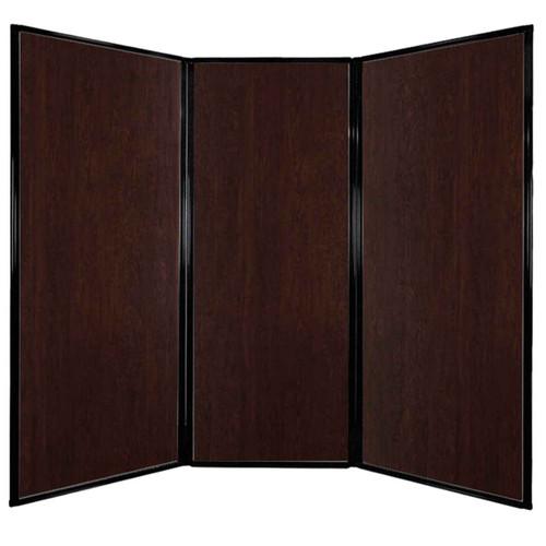"""Privacy Screen 7'6"""" x 6'8"""" Espresso Cherry Wood Grain"""
