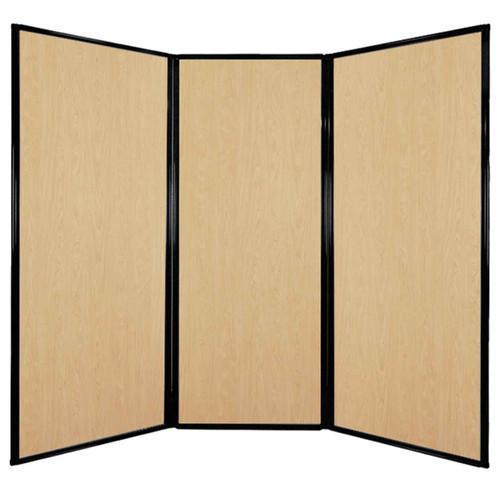 "Privacy Screen 7'6"" x 6'8"" Natural Maple Wood Grain"