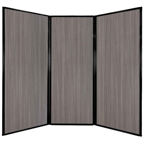 "Privacy Screen 7'6"" x 6'8"" Gray Elm Wood Grain"
