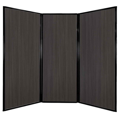 "Privacy Screen 7'6"" x 6'8"" Carbon Ash Wood Grain"