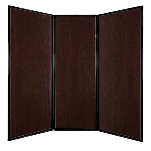 "Privacy Screen 7'6"" x 7'4"" Espresso Cherry Wood Grain"