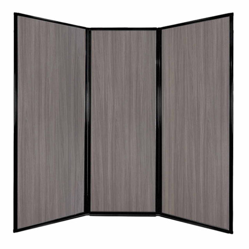 "Privacy Screen 7'6"" x 7'4"" Gray Elm Wood Grain"