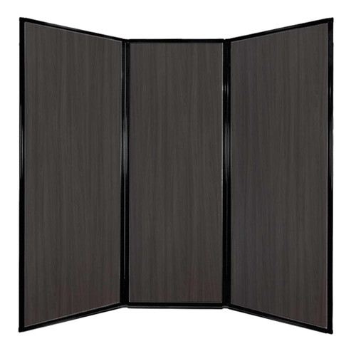 "Privacy Screen 7'6"" x 7'4"" Carbon Ash Wood Grain"