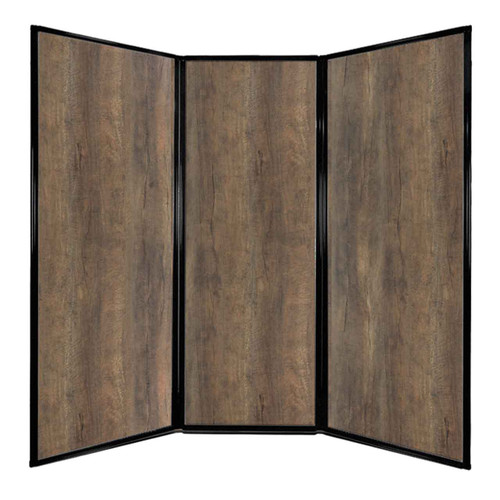 "Privacy Screen 7'6"" x 7'4"" Urban Oak Wood Grain"