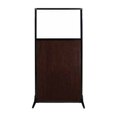 "Work Station Screen 33"" x 70"" Espresso Cherry Wood Grain With Clear Window"