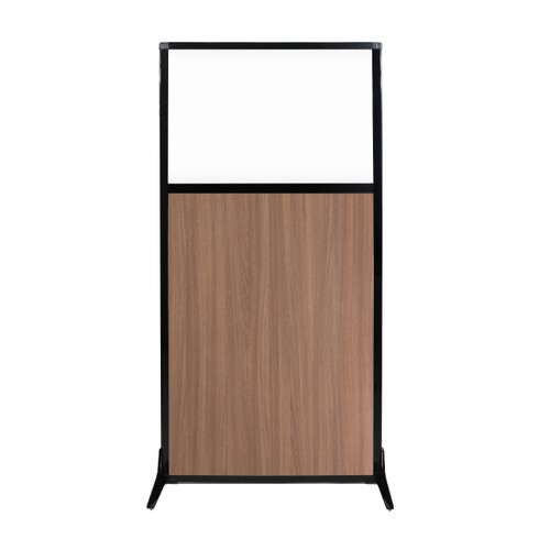 "Work Station Screen 33"" x 70"" River Birch Wood Grain With Clear Window"