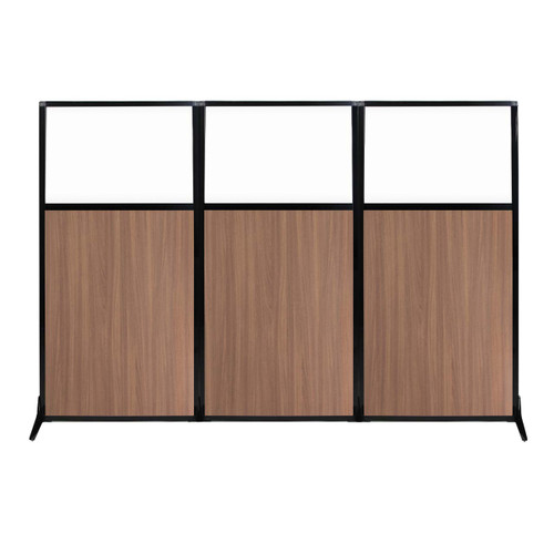 """Work Station Screen 99"""" x 70"""" River Birch Wood Grain With Clear Window"""