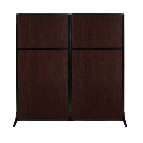 "Work Station Screen 66"" x 70"" Espresso Cherry Wood Grain"