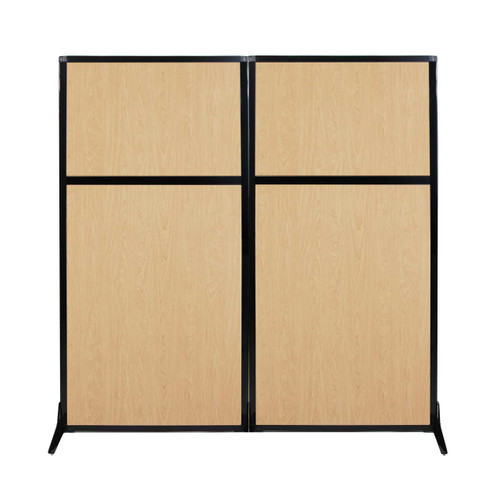 "Work Station Screen 66"" x 70"" Natural Maple Wood Grain"