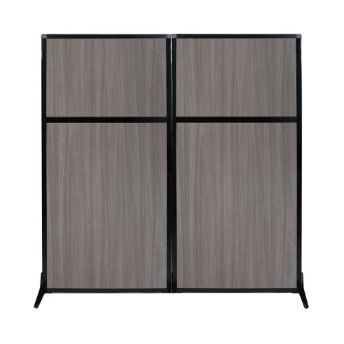 "Work Station Screen 66"" x 70"" Gray Elm Wood Grain"