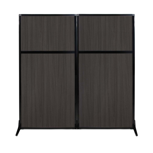"Work Station Screen 66"" x 70"" Carbon Ash Wood Grain"