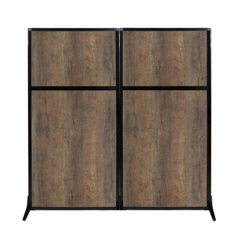 "Work Station Screen 66"" x 70"" Urban Oak Wood Grain"