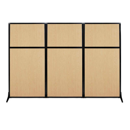 "Work Station Screen 99"" x 70"" Natural Maple Wood Grain"
