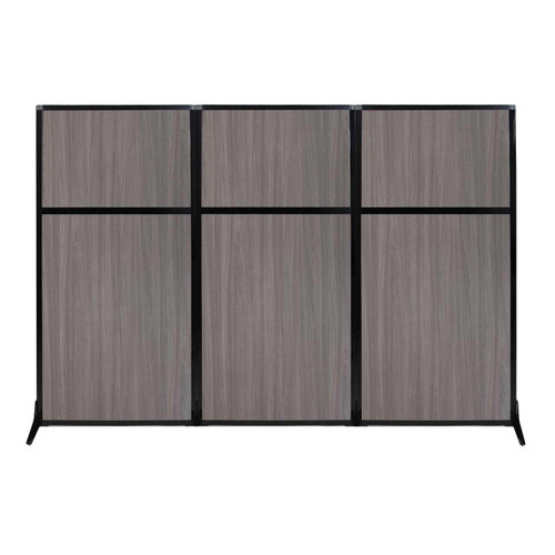 "Work Station Screen 99"" x 70"" Gray Elm Wood Grain"