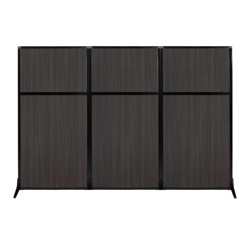 "Work Station Screen 99"" x 70"" Carbon Ash Wood Grain"