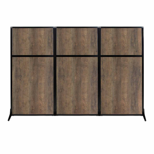 "Work Station Screen 99"" x 70"" Urban Oak Wood Grain"