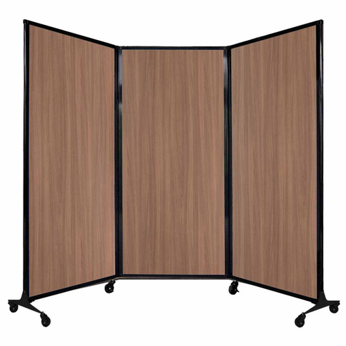 "QuickWall Folding Portable Partition 8'4"" x 5'10"" River Birch Wood Grain"