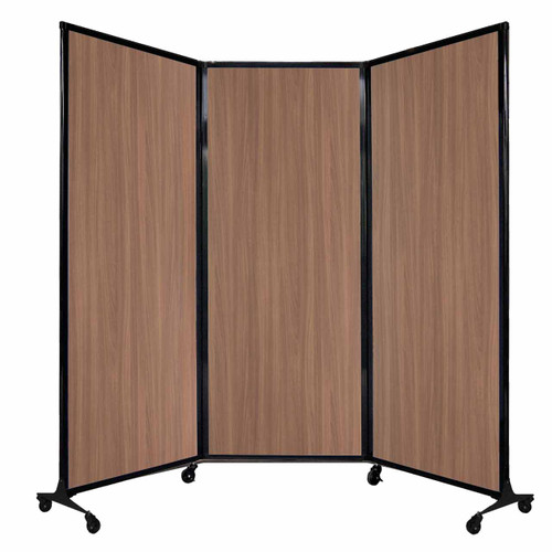 "QuickWall Folding Portable Partition 8'4"" x 6'8"" River Birch Wood Grain"