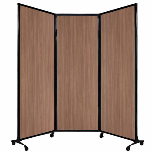 "QuickWall Folding Portable Partition 8'4"" x 7'4"" River Birch Wood Grain"