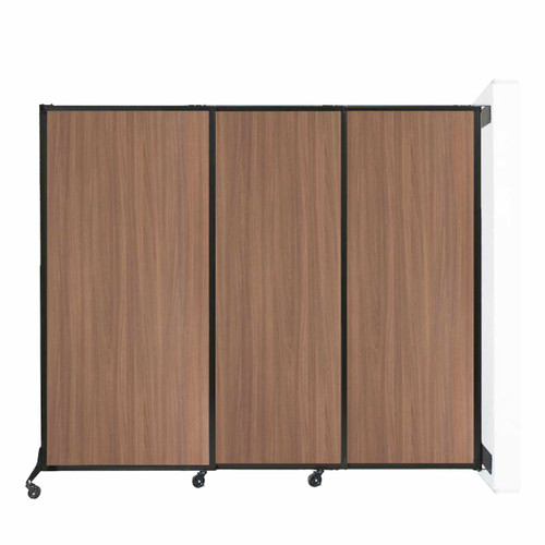 """Wall-Mounted QuickWall Sliding Partition 7' x 5'10"""" River Birch Wood Grain"""
