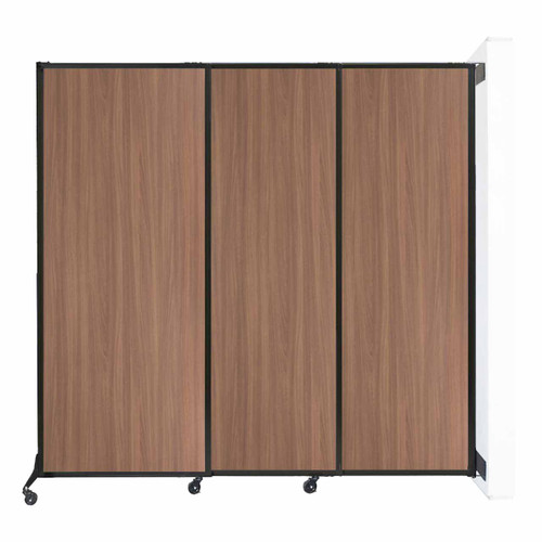 """Wall-Mounted QuickWall Sliding Partition 7' x 6'8"""" River Birch Wood Grain"""