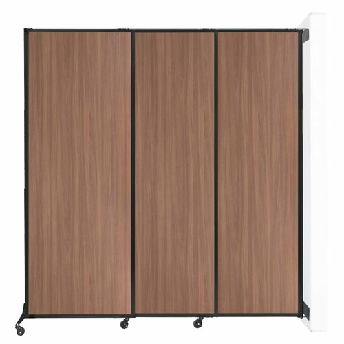 """Wall-Mounted QuickWall Sliding Partition 7' x 7'4"""" River Birch Wood Grain"""
