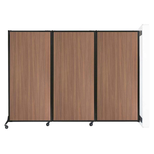 "Wall-Mounted QuickWall Folding Partition 8'4"" x 5'10"" River Birch Wood Grain"