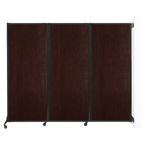 "Wall-Mounted QuickWall Folding Partition 8'4"" x 6'8"" Espresso Cherry Wood Grain"