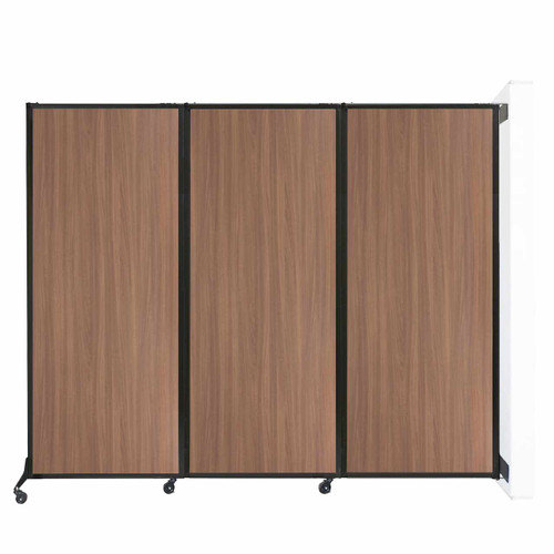 "Wall-Mounted QuickWall Folding Partition 8'4"" x 6'8"" River Birch Wood Grain"