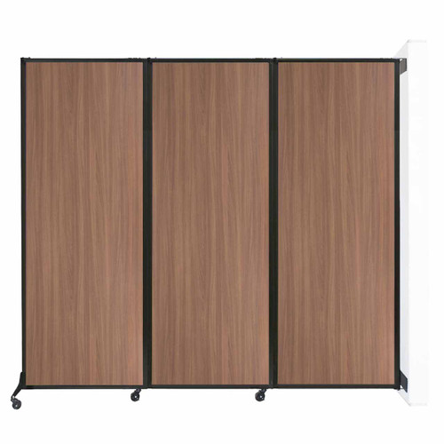 "Wall-Mounted QuickWall Folding Partition 8'4"" x 7'4"" River Birch Wood Grain"