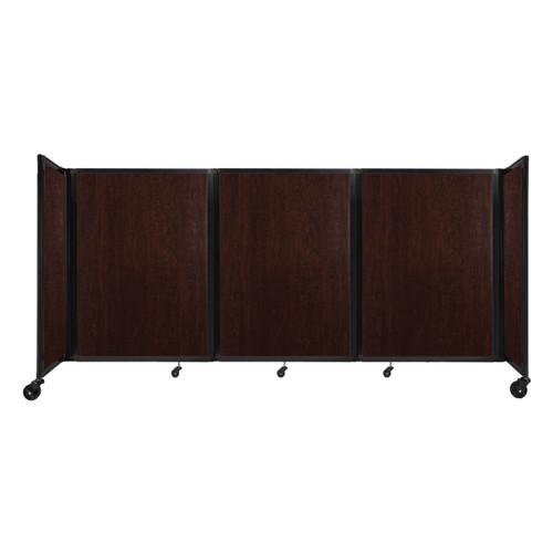 "Room Divider 360 Folding Portable Partition 8'6"" x 4' Espresso Cherry Wood Grain"