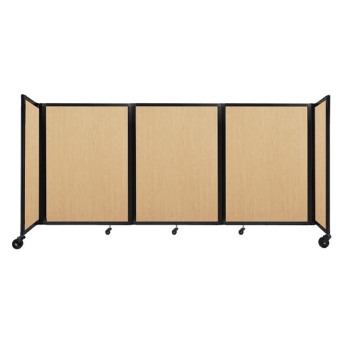"""Room Divider 360 Folding Portable Partition 8'6"""" x 4' Natural Maple Wood Grain"""