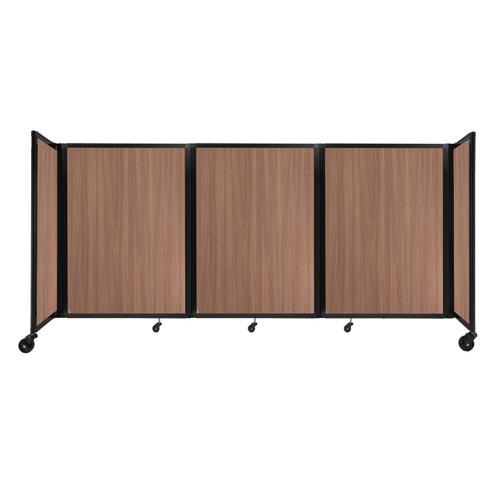 "Room Divider 360 Folding Portable Partition 8'6"" x 4' River Birch Wood Grain"