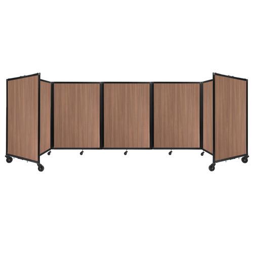 Room Divider 360 Folding Portable Partition 14' x 4' River Birch Wood Grain