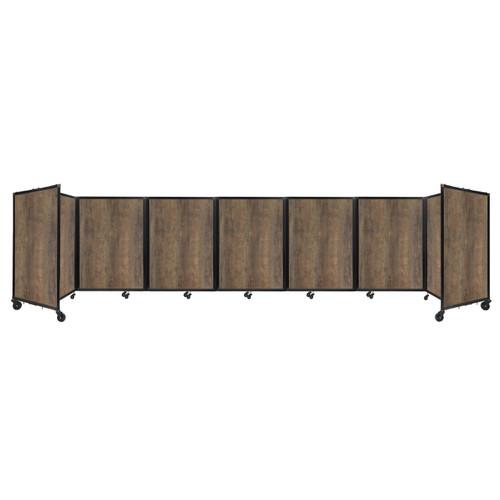 "Room Divider 360 Folding Portable Partition 19'6"" x 4' Urban Oak Wood Grain"