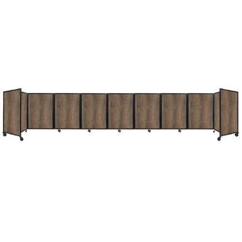 Room Divider 360 Folding Portable Partition 25' x 4' Urban Oak Wood Grain