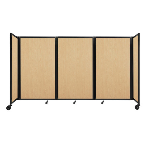 """Room Divider 360 Folding Portable Partition 8'6"""" x 5' Natural Maple Wood Grain"""